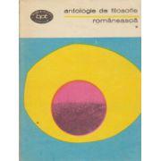 Antologie de filosofie romaneasca ( vol. 1 )