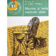 Maxime şi texte medicale alese