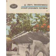 Poezii populare române ( vol. 1 )