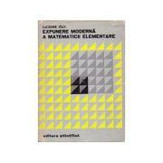 Expunere modernă a matematicii elementare