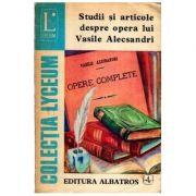 Studii și articole despre opera lui Vasile Alecsandri