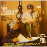 VIVALDI / TELEMAN / LEOPOLD MOZART / HUMMEL: Vier trompetenkonzerte ( vinil )