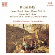 BRAHMS: Four Hand Piano Music Vol. 3 ( CD )