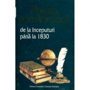 Poezia românească de la începuturi până la 1830