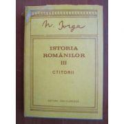 Istoria românilor ( Vol. III - Ctitorii )