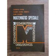 Matematici speciale. Aplicații