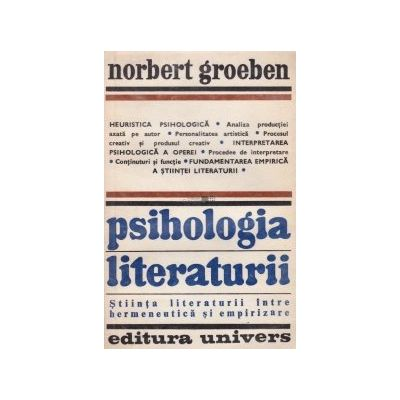 Psihologia literaturii. Știința literaturii între hermeneutică și empirizare