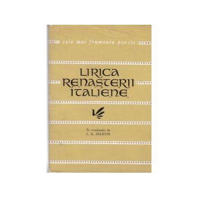 Lirica Renaşterii italiene ( Colecţia CELE MAI FRUMOASE POEZII )
