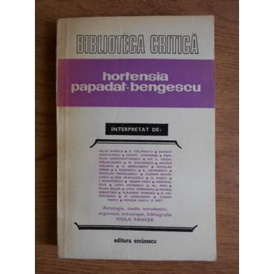 Hortensia Papadat-Bengescu interpretat de...