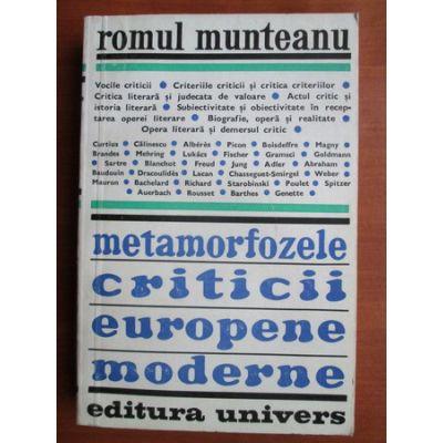 Metamorfozele criticii europene