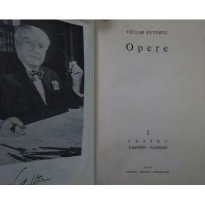 Teatru. Legende românești ( Opere, vol. 1 )
