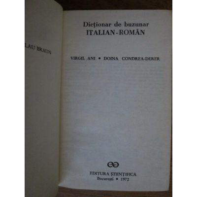 Dicționar de buzunar italian - român