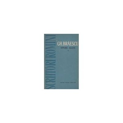 Opere alese ( vol. I )